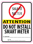 No Smart Meter Sticker