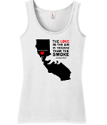#SONOMACOUNTYSTRONG Womens TANK-WHITE or BLACK