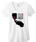 #SONOMACOUNTYSTRONG Womens Scoop WHITE or BLACK