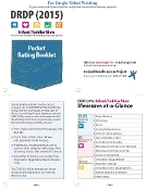 DRDP (2015) Infant/Toddler Pocket Rating Booklet - Single Sided