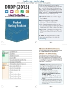 DRDP (2015) Infant/Toddler Pocket Rating Booklet - Double Sided