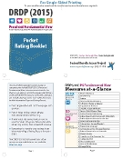 DRDP (2015) Preschool Pocket Rating Booklet - Single Sided