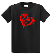 MHS CARNEGIE HEART BLACK      ....Tshirt or Hoodie Available